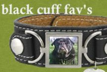 Our Favorite Black Leather Cuff Photo Bracelets / Black Leather Cuff Photo Bracelets we've created for our customers!