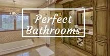 Perfect Bathrooms: Love @ First Sight! / We all need a little serene relaxation at the end of our tiresome days. And what's better than a steamy hot shower & overflowing bubble bath?? Not much!