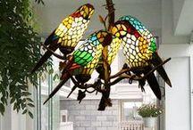 Lamps, chandeliers.