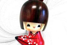 Kokeshi / Kokeshi bambole in legno prodotto di artigianato giapponese.