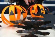 Höst och halloweenpyssel / Pynt och pyssel för höst och halloween som är roliga att göra i sällskap av små händer.