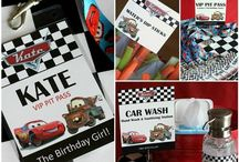 Cars inspired - birthday theme / Cars the movie themed party items. 4th birthday for the eldest.