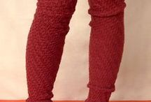 Knitted Leg Warmers and socks / Knitting Patterns for leg warmers
