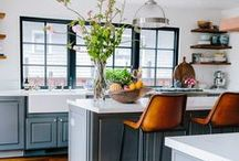 In the Home / Inspiration for flats and houses. Full of home decor, interiors, monochrome, wood and fairy lights.