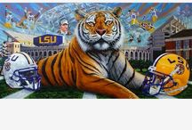 Geaux Tigers! / LSU tigers football  / by Laura Landry