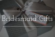 Bridesmaid Gifts / Bridesmaid gift inspiration including bridesmaid robes, necklaces, and other fun things to make your favorite girls feel special.