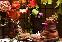 Old boots...  / when autumn leaves start to fall...