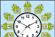 Classroom Clock Decor / These fun labels will look fantastic around your classroom clock!  Telling time worksheets are also included.