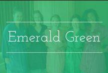 Emerald Green palette inspiration / Emerald green color palette wedding inspiration