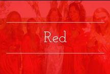 Bold Red palette inspiration / Red color palette wedding inspiration