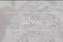Silver palette inspiration / Silver color palette wedding inspiration