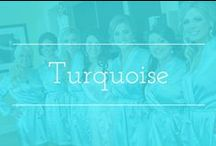 Turquoise palette inspiration / Turquoise color palette wedding inspiration