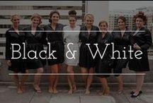 Black & White Color palettes for wedding / White & black color palette wedding inspiration