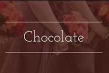 Chocolate palette inspiration / Chocolate brown color palette wedding inspiration