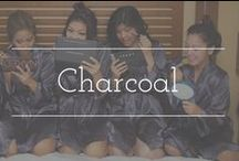 Charcoal palette inspiration / Charcoal color palette wedding inspiration