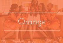 Orange palette inspiration / Orange color palette wedding inspiration