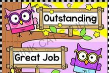 Behavior Management / Pink Cat Studio's clip charts, punch cards and more to motivate your students to behave well. Themes include: owl, Superhero, frog, bee, jungle animals, bugs, monkey.