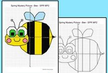Graphing Coordinates Mystery Pictures / Pink Cat Studio's fun Graphing Coordinates Mystery Picture activities. Practice coordinate graphing any time of year with worksheets for Thanksgiving, Christmas, Halloween, Earth Day, Valentine's Day, Easter and many other holidays and topics. Mystery pictures are perfect for math centers, early finishers and homework.