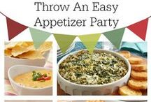 Easy Appetizer Party Recipes / The ultimate DIY easy peasy Christmas or New Years get together: an appetizer party! Keep it simple with just appetizers - a combination of simple recipes and store bought items. Expect to find a variety of appetizer recipes here including vegetarian recipes, zucchini recipes, and quiche recipes. / by Kim Tolander
