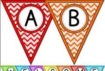 Chevron Theme Classroom / Create a fun and bright chevron classroom with Pink Cat Studio's chevron theme classroom decor! Everything you need to decorate your classroom and motivate your students: behavior chart, classroom jobs labels, clock decor, alphabet posters, numbers posters, nameplates and editable labels so you can get creative and make anything you need.