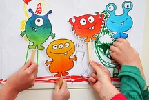 Monster Crafts & Activities For Kids / ~ A theme board for monster crafts, books, and activities ~