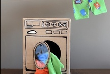 Things to do with a cardboard box (and other recycled play ideas) / Play doesn't have to be expensive and toys don't have to be manufactured and have lots of parts. Try some of these ideas for creating toys and play opportunities from recycled materials and things you have around the house.