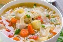 Chicken ~ Soup / Cold weather and soup go hand in hand! The smell of soup simmering on the stove top permeating the house, making everyone anxious to gather around the table to eat & talk about their day....perfect.