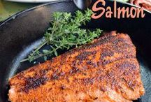 Seafood - Salmon / Yummy! Fresh wild caught salmon is very nutrious and provides important amounts of the antioxidant amino acid taurine. Salmon is an excellent source of vitamin B12, vitamin D, and selenium. It also provides our body with niacin, omega-3 fatty acids, protein, phosphorus, and vitamin B6. Ours is always wild caught in United States waters.