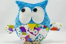 Little Sophie owls- Gustav / Product made from best quality materials! An awesome gift, also for christening or birthday party. On the one side soft cotton, on the other Minky polyester with distinct colours.  Individual and original products!