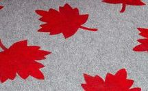 Red & White Decor / Show your Canadian pride throughout the year with red and white decor for inside and outside the house!