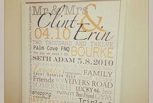 Wedding & Engagement wallart / Personalised wallart for engagements & weddings