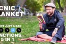 Bag Five - Picnic Blanket 4. Function / As a picnic blanket, the Bigo Bag Five is perfect in the park or anywhere outdoors; just pull it out, throw it down and kick back and read or chat with friends. And don't worry about wet grass, the Five is water-resistant.