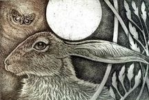 Hares wild and beautiful / Trying to find a logo for Crake Trees Manor web site