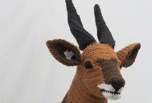 Crocheted animals etc.