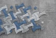 Quadilic / Contemporary tile design by origami artist Ilan Garibi