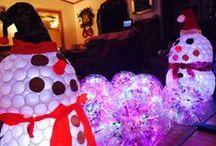 Sparkleball Snowmen (and Women) / stacking sparkleballs to create snowpeople