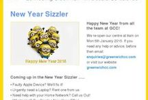 Sizzlers / Our regular newsletter which keeps our friends up to date with what's going on in our community.