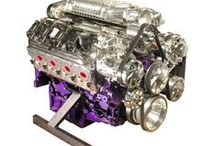 """Purple Plasma LS2 with Magnuson Supercharger / This Purple Plasma LS2 was definitely built for a Hot Rodder. Check out the """"Classic"""" MP112 Magnuson Supercharger which is capable of producing 560 Horsepower atop this LS2. We gave this purple beast some extra jazz with polished heads, valve covers, throttle body and serpentine pulley system. Are you looking for something special for your Hot Rod? Check us out at spsengines.com."""