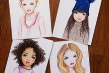 My baby collection | Мои бэйбочки / Здесь я буду накапливать своих бэйбочек... Создаю трогательные рисунки девочек с выразительными личиками. Прекрасный материал для открыток. Рисуются с любовью карандашами #prismacolor
