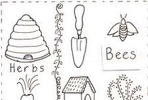 Riscos Variados / Risco, gráficos ou imagens para bordar ou pintar.
