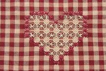 Bordado Tecido Xadrez, Broderie suisse, (Chicken scratch embroidery) / Bordado em tecido xadrez ou não.
