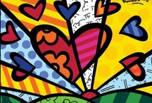Coisas a la Romero Britto / Romero Britto é um pintor, escultor e serígrafo brasileiro. Irmão do técnico de futebol Baltemar Brito, por parte de pai. Atualmente é um dos mais premiados pintores pernambucanos.  / by Juçara Medeiros