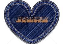 """Arte e Reciclagem com JEANS / O jeans começou a ser fabricado em 1872 em Nimes, na França.Os norte-americanos, que o apelidaram de """"jeans"""". Levi Strauss foi quem criou o jeans nos Estados Unidos no ano de 1853 para atender garimpeiros da Califórnia. / by Juçara Medeiros"""
