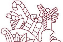 Riscos Natal / Risco, gráficos ou imagens para bordar ou pintar com motivos natalinos.