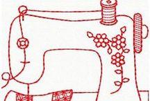 Riscos Coisas de Costura / Risco, gráficos ou imagens para bordar ou pintar.