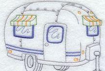Riscos Meios de Transportes / Risco, gráficos ou imagens para bordar ou pintar.