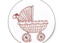 Riscos Coisas de Bebê / Risco, gráficos ou imagens para bordar ou pintar.