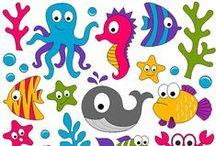Riscos Coisas do Mar / Risco, gráficos ou imagens para bordar ou pintar.
