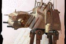 Steampunk AT AT Walker / Steampunk AT AT  BY Bebek