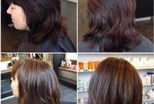 Mörkbrun / Här visar jag före- och efterbilder där jag använt mig av den tjusiga nyansen mörkbrun.
